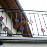 Geländer geschmiedet Glas