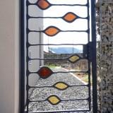 Tür mit Bundglas hergestellt