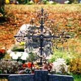 Friedhof geschmiedete Arbeiten