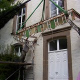 Restauration Dach Vordach Glas