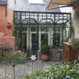 Wintergarten Glas geschmiedet