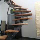 Holz Stahl Treppe