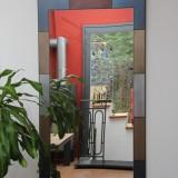 Spiegel Stahl Bunt
