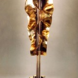 Leuchte Blech modern originell Goldlicht